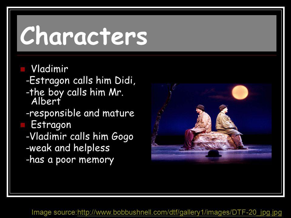 Characters Vladimir -Estragon calls him Didi,