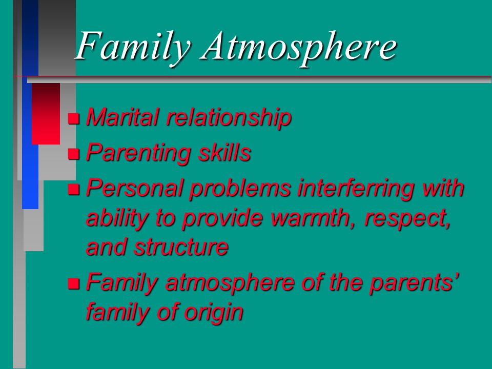 Family Atmosphere Marital relationship Parenting skills