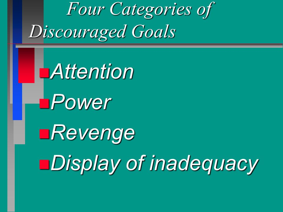 Four Categories of Discouraged Goals