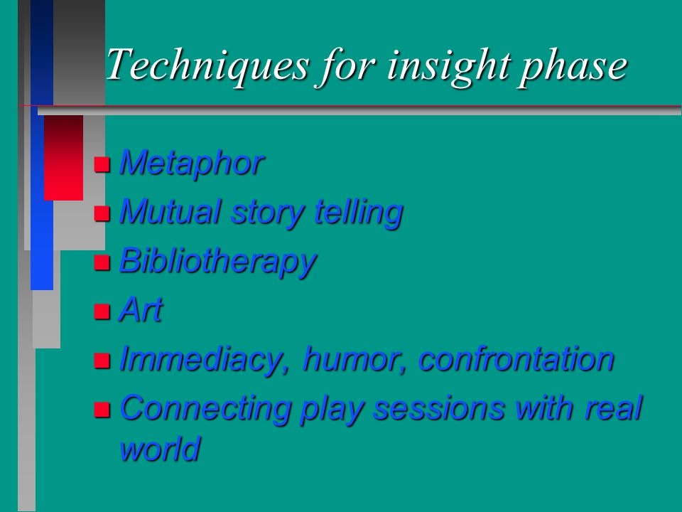 Techniques for insight phase
