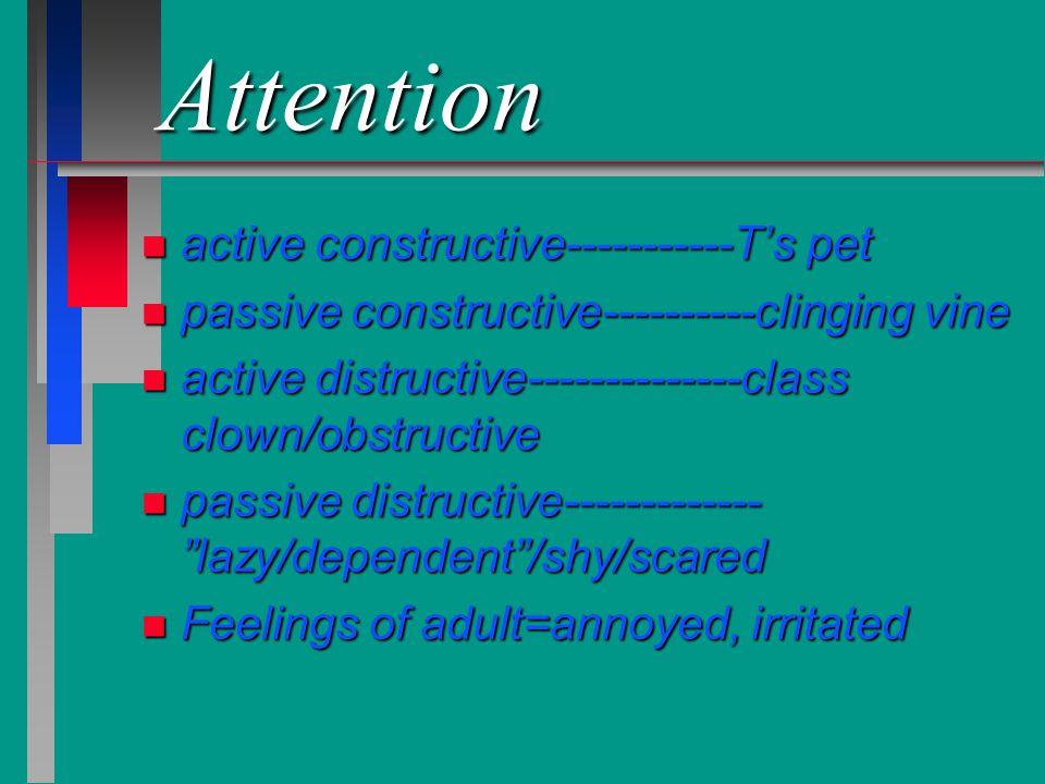 Attention active constructive-----------T's pet