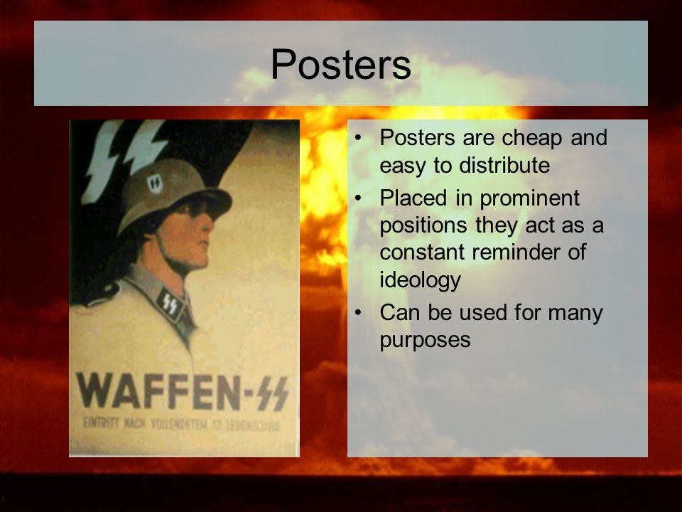 Posters Posters are cheap and easy to distribute