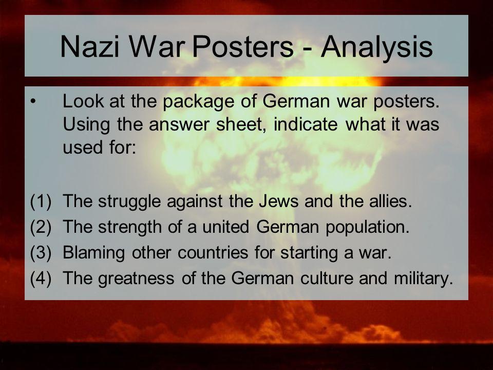 Nazi War Posters - Analysis