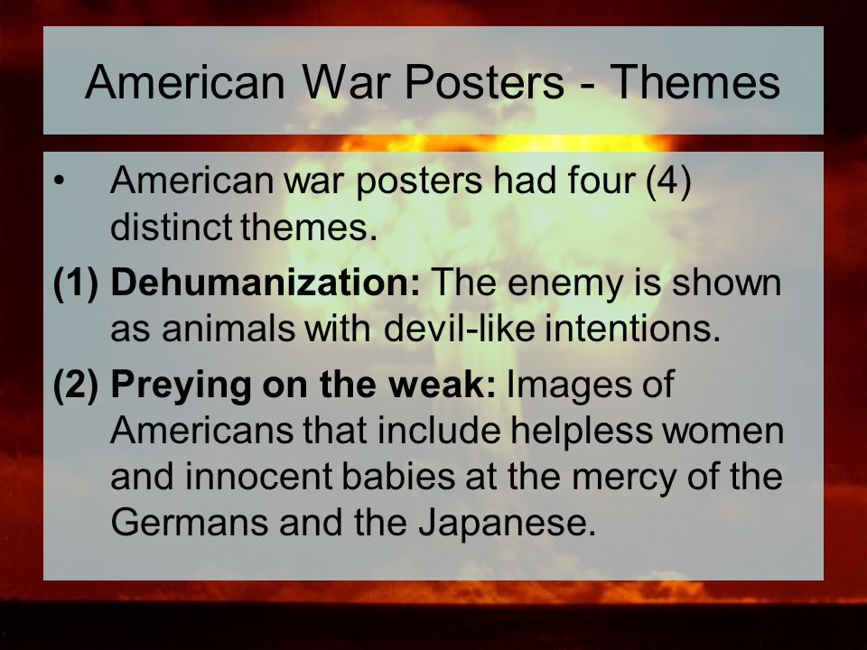 American War Posters - Themes