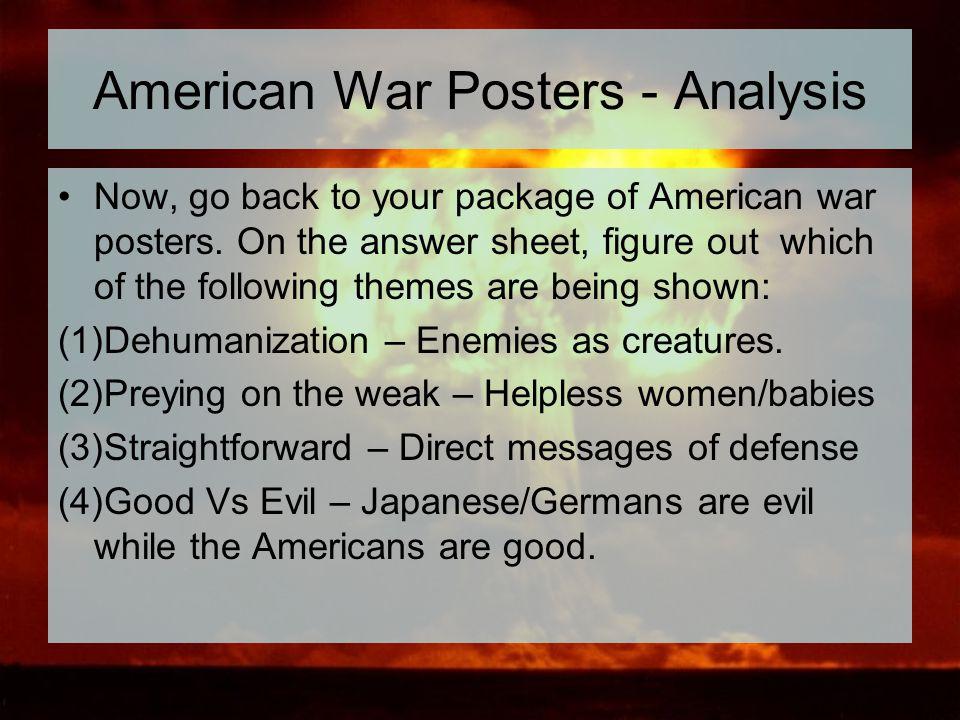 American War Posters - Analysis