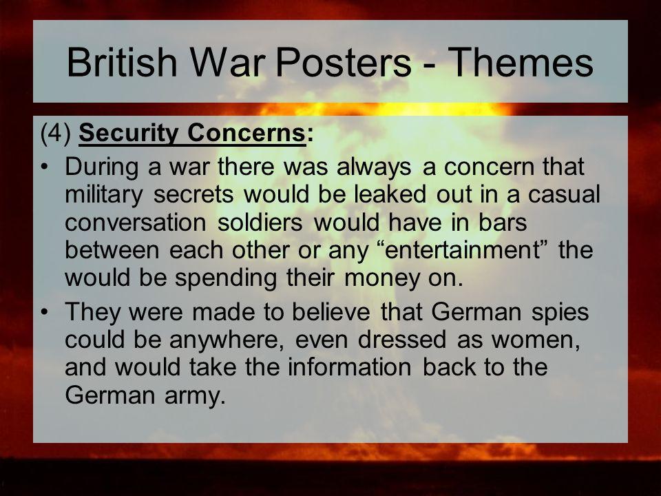 British War Posters - Themes
