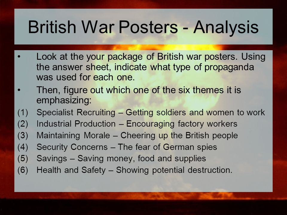 British War Posters - Analysis
