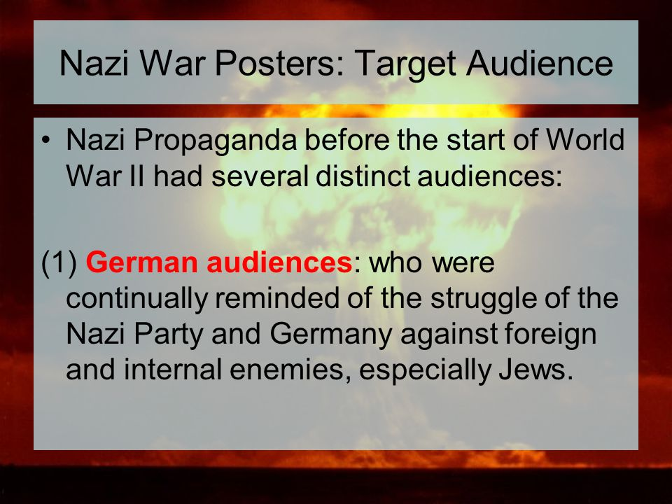 Nazi War Posters: Target Audience