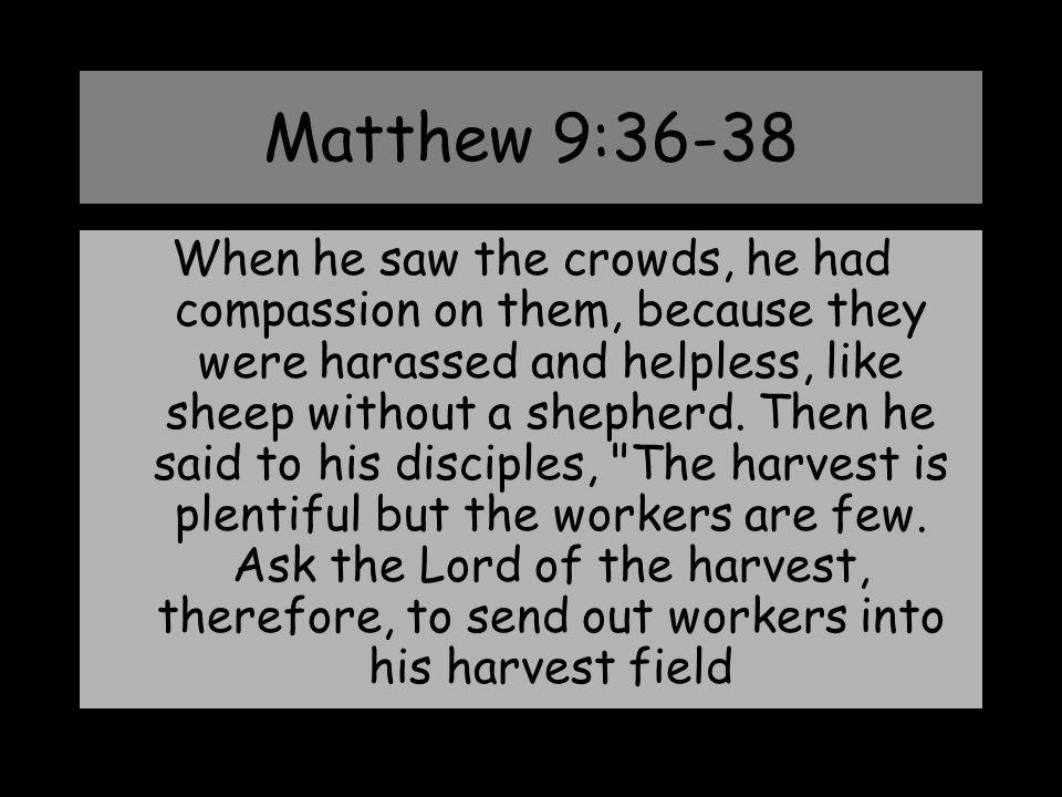 Matthew 9:36-38