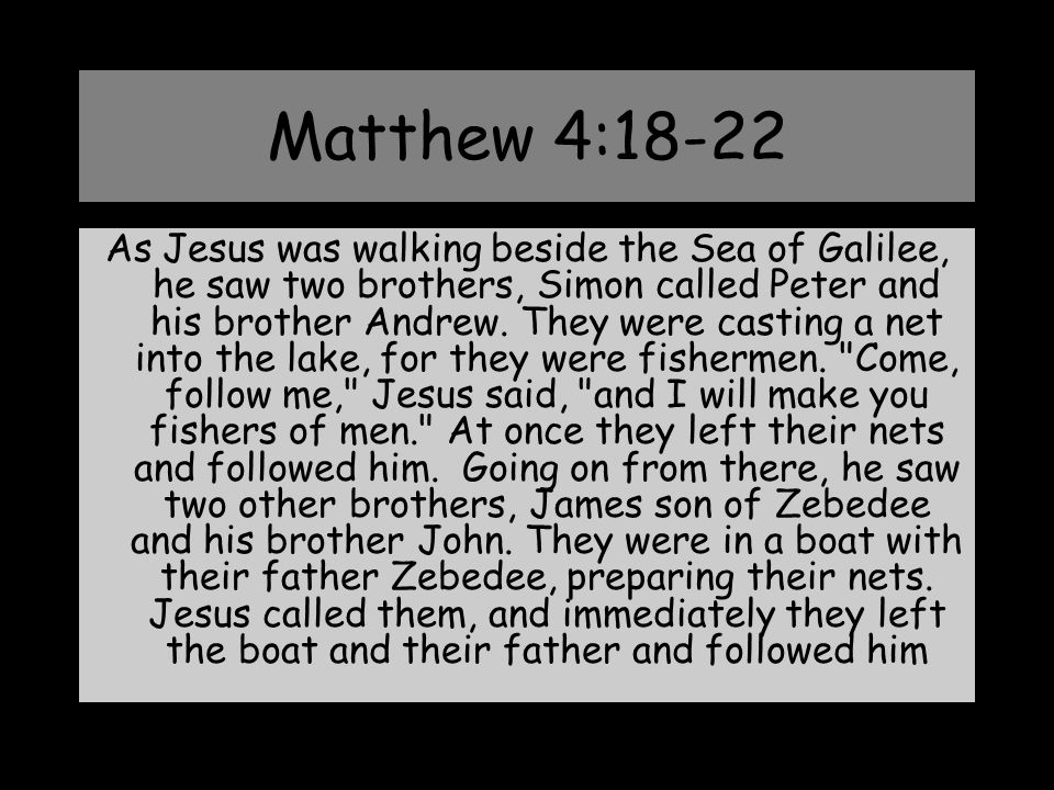 Matthew 4:18-22