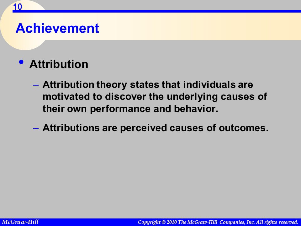 Achievement Attribution