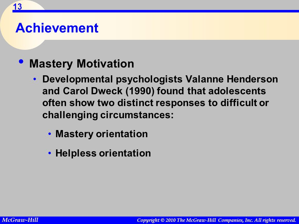 Achievement Mastery Motivation