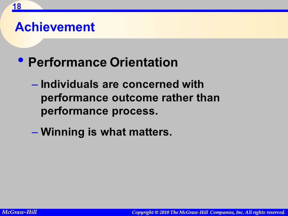 Performance Orientation