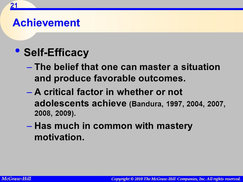 Achievement Self-Efficacy