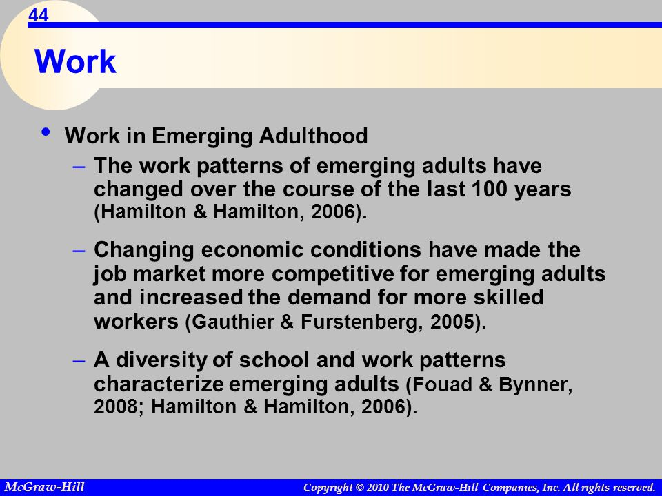 Work Work in Emerging Adulthood