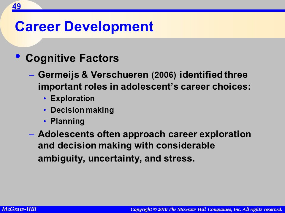 Career Development Cognitive Factors
