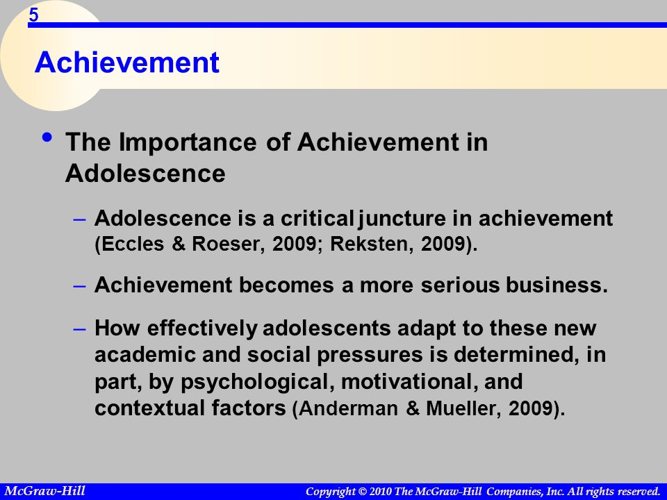 Achievement The Importance of Achievement in Adolescence