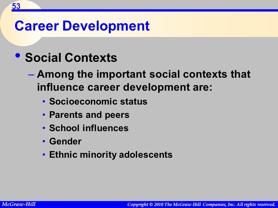 Career Development Social Contexts