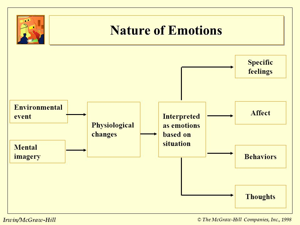 Nature of Emotions Specific feelings Environmental event Affect