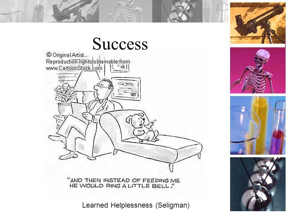 Success Learned Helplessness (Seligman)