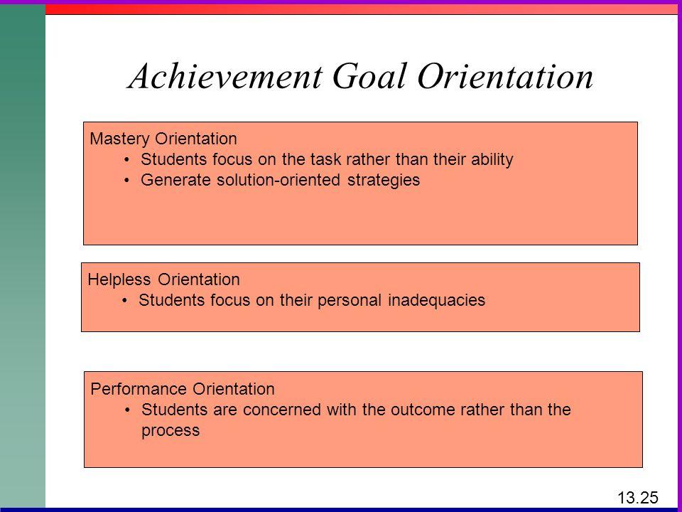 Achievement Goal Orientation
