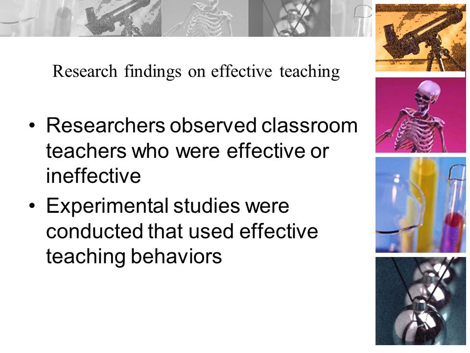 Research findings on effective teaching