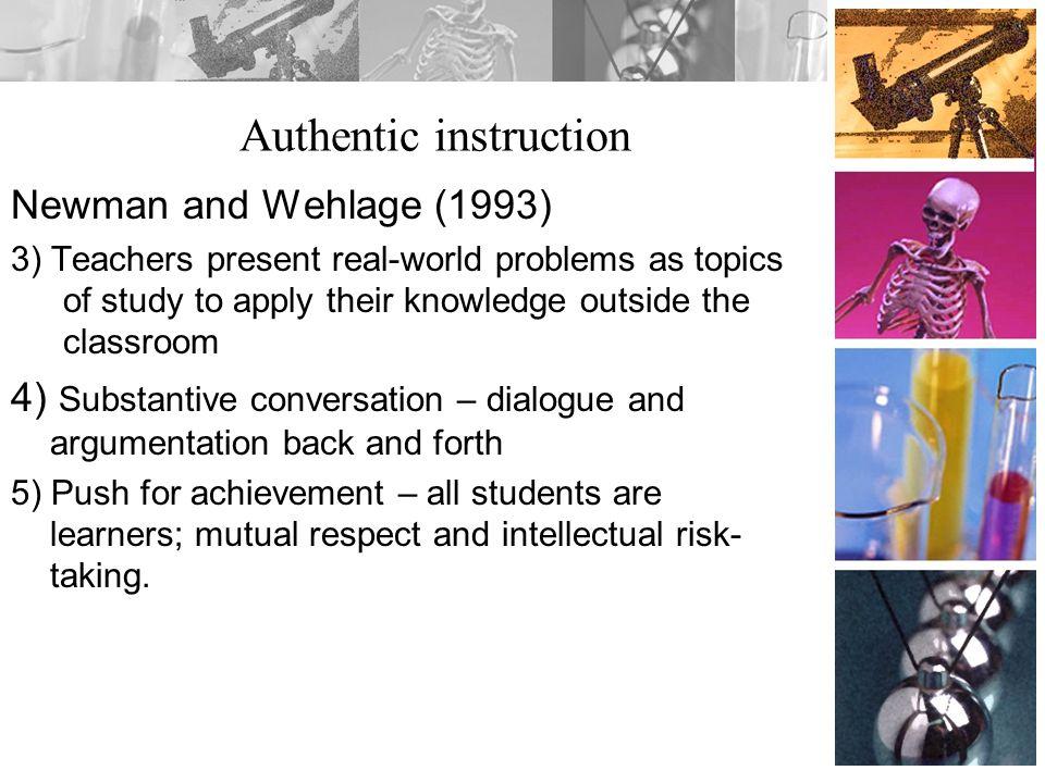 Authentic instruction