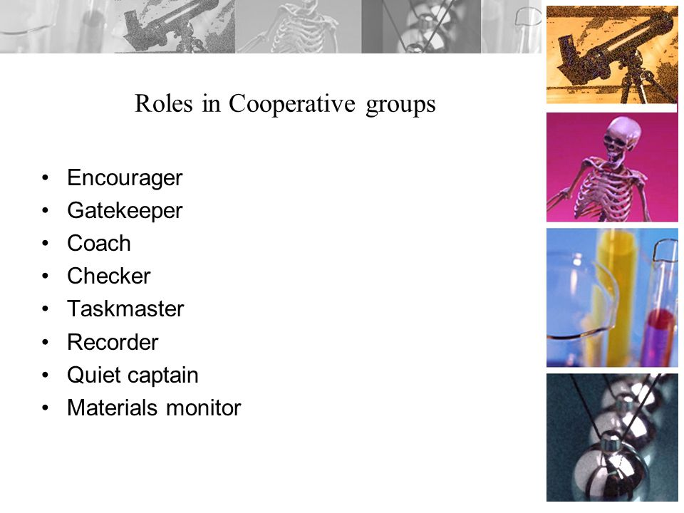Roles in Cooperative groups