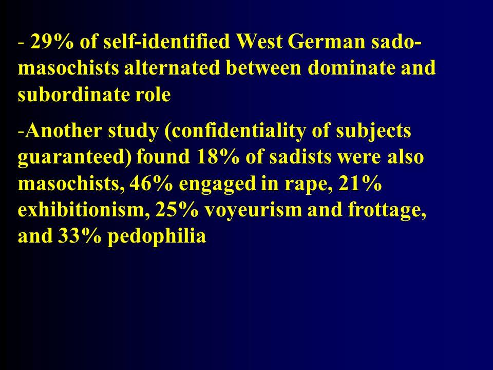 29% of self-identified West German sado-