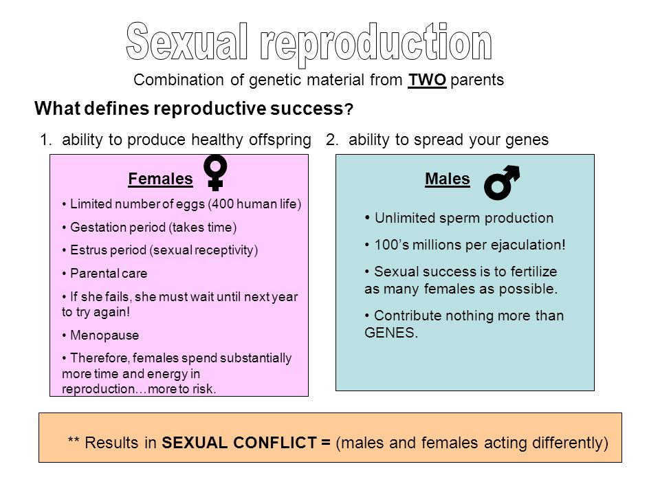 Sexual reproduction What defines reproductive success