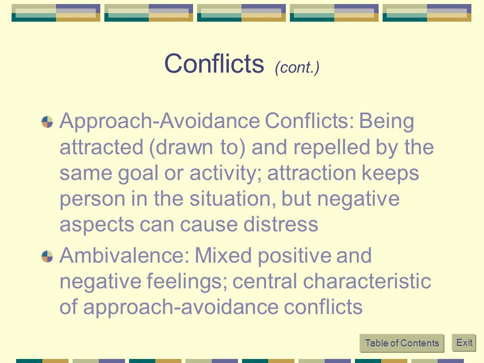 Conflicts (cont.)