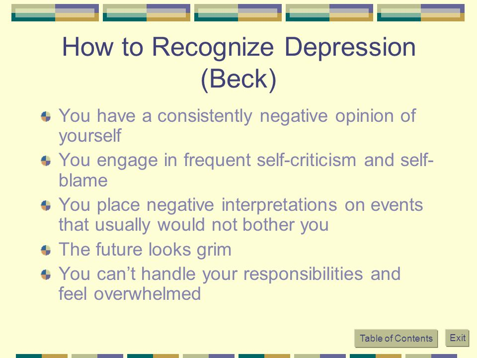 How to Recognize Depression (Beck)
