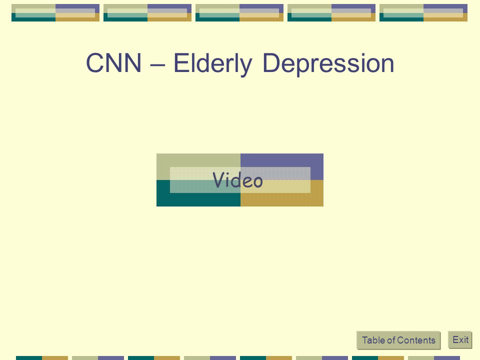 CNN – Elderly Depression