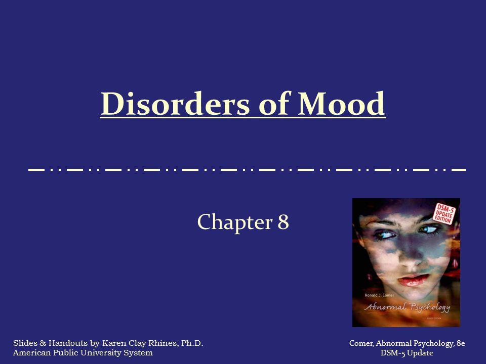 Disorders of Mood Chapter 8