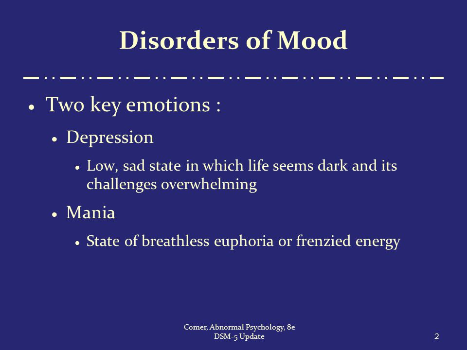 Comer, Abnormal Psychology, 8e DSM-5 Update