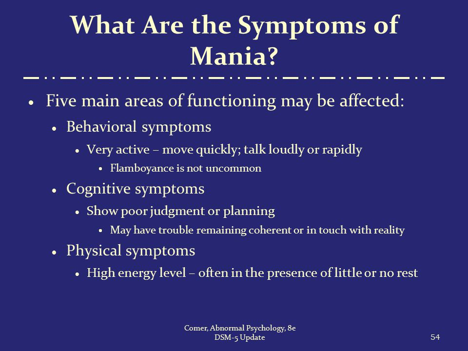 What Are the Symptoms of Mania
