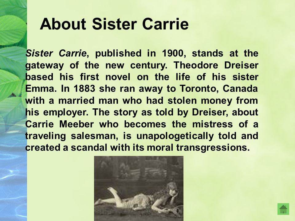 About Sister Carrie