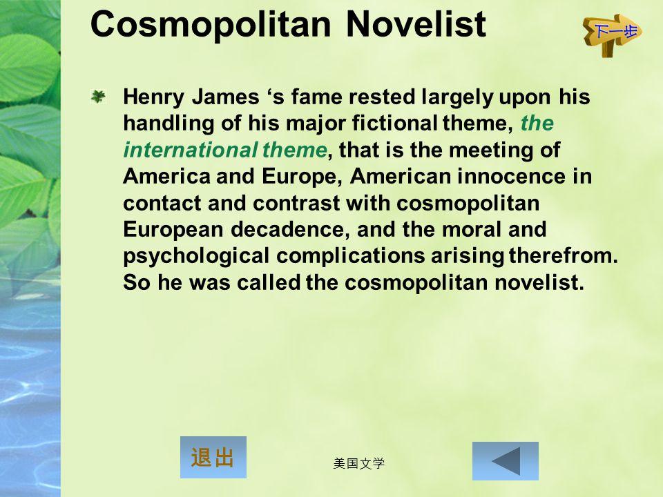 Cosmopolitan Novelist