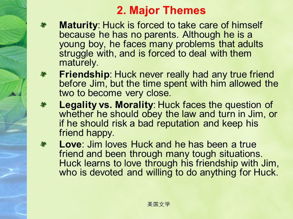 2. Major Themes