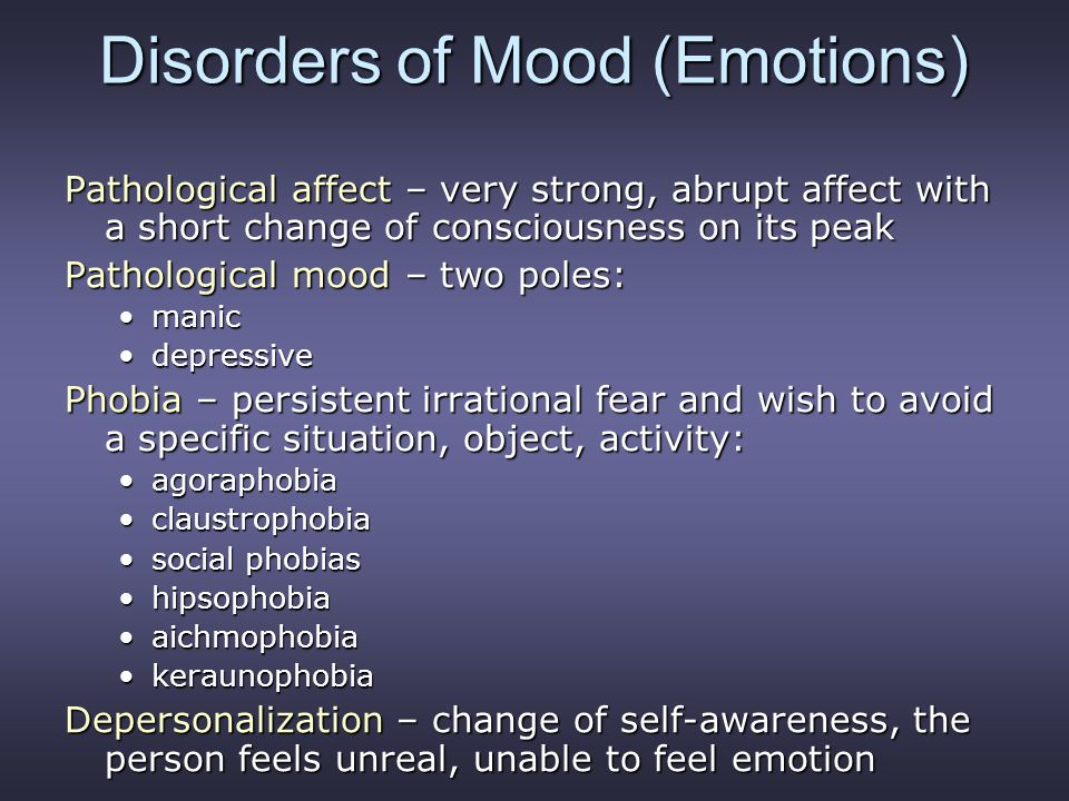 Disorders of Mood (Emotions)