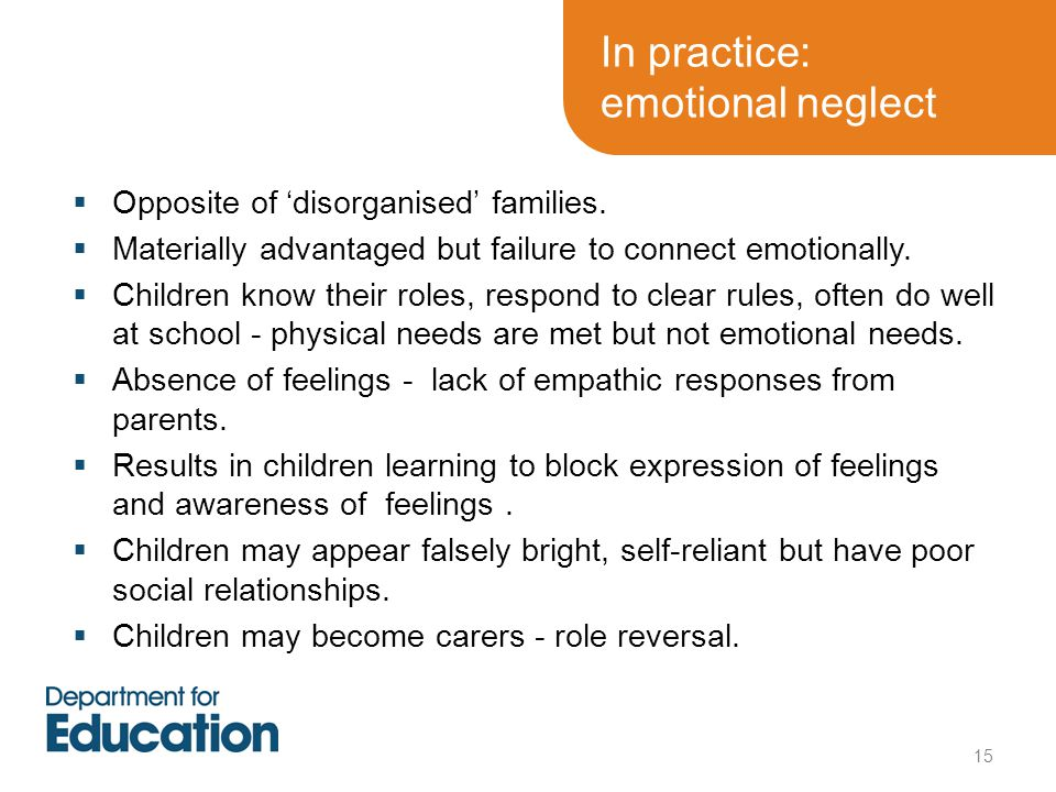 In practice: emotional neglect
