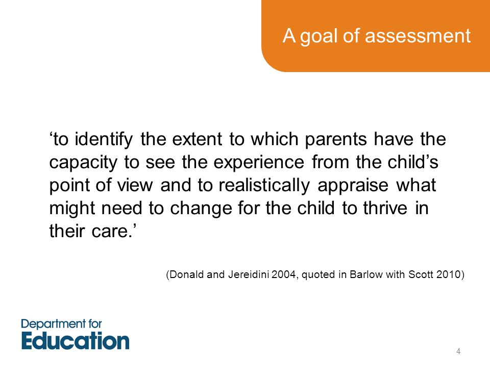 A goal of assessment
