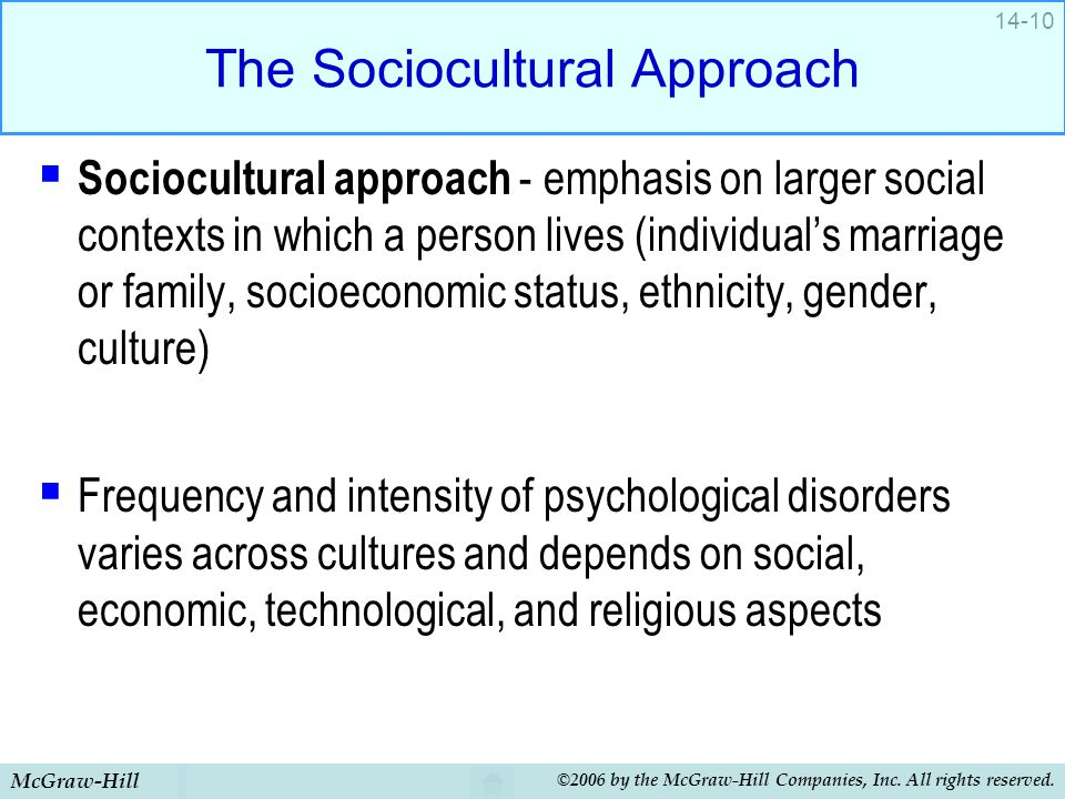 The Sociocultural Approach