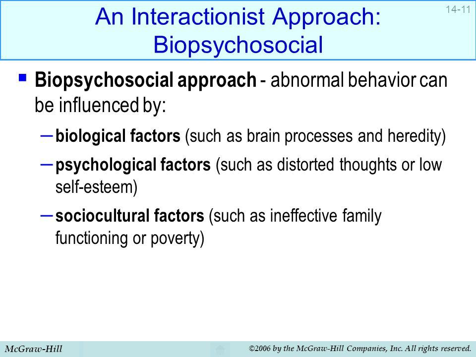 An Interactionist Approach: Biopsychosocial