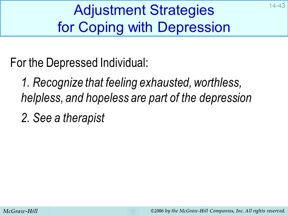 Adjustment Strategies for Coping with Depression