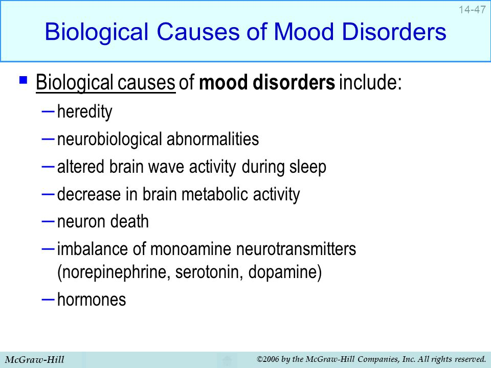 Biological Causes of Mood Disorders