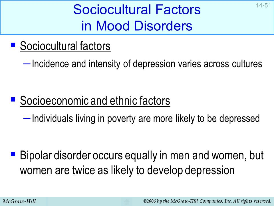 Sociocultural Factors in Mood Disorders