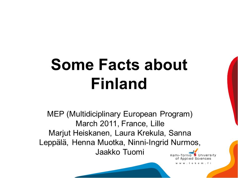 Some Facts about Finland
