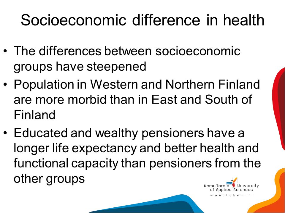 Socioeconomic difference in health