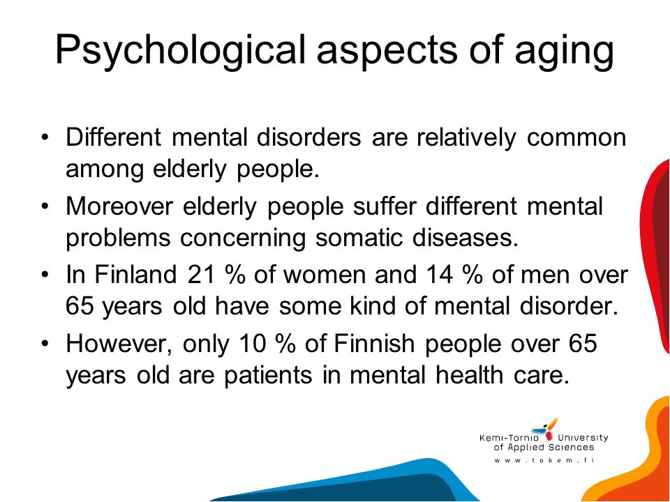 Psychological aspects of aging